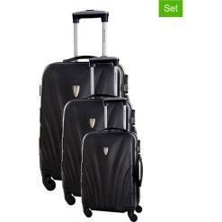 Walizki: Zestaw walizek w kolorze czarnym – 3 szt.