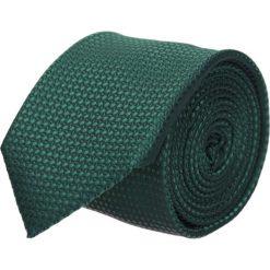 Krawat platinum zielony classic 200. Zielone krawaty męskie Recman, w geometryczne wzory, z tkaniny, eleganckie. Za 49,00 zł.