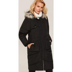Pikowany płaszcz oversize - Czarny. Niebieskie płaszcze damskie marki House, m. Za 359,99 zł.
