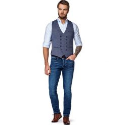 Jeansy Queens. Niebieskie jeansy męskie slim marki LANCERTO. W wyprzedaży za 299,90 zł.