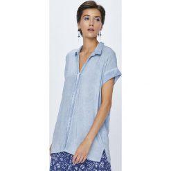 Medicine - Koszula Rustic Indigo. Niebieskie koszule damskie MEDICINE, m, z materiału, klasyczne, z klasycznym kołnierzykiem, z krótkim rękawem. W wyprzedaży za 49,90 zł.