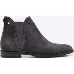 Gant - Botki Nicole. Czarne buty zimowe damskie GANT, z gumy, na obcasie. W wyprzedaży za 399,90 zł.