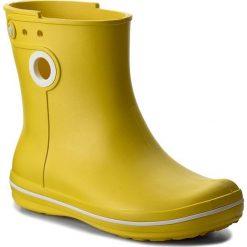 Kalosze CROCS - Jaunt Shorty Boot W 15769 Lemon. Różowe buty zimowe damskie marki Crocs, z materiału. W wyprzedaży za 149,00 zł.