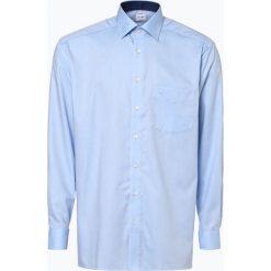OLYMP Luxor comfort fit - Koszula męska niewymagająca prasowania, niebieski. Białe koszule męskie na spinki marki DRYKORN, m. Za 199,95 zł.