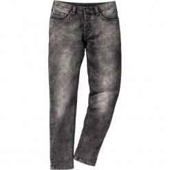 Dżinsy dresowe Skinny Fit Straight bonprix szary denim. Szare jeansy męskie regular bonprix, z denimu. Za 54,99 zł.
