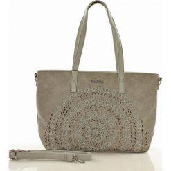 Shopper bag damskie: Miejska torebka shopper bag szara ALAINA
