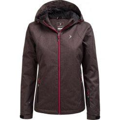 Kurtka narciarska damska KUDN600A - CZARNY MELANŻ - Outhorn. Szare kurtki damskie zimowe marki Outhorn, melanż, z bawełny. W wyprzedaży za 160,99 zł.