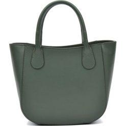 Torebki i plecaki damskie: Skórzana torebka w kolorze zielonym – (S)20,5 x (W)29 x (G)9 cm