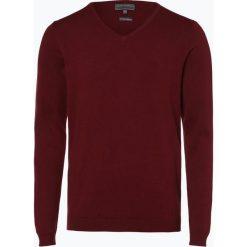 Finshley & Harding - Sweter męski, czerwony. Czarne swetry klasyczne męskie marki Finshley & Harding, w kratkę. Za 129,95 zł.