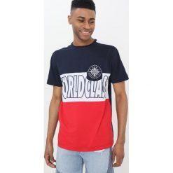 T-shirty męskie z nadrukiem: Cayler & Sons BLOCKED TEE Tshirt z nadrukiem navy/white