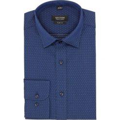 Koszula versone 2688 długi rękaw slim fit granatowy. Niebieskie koszule męskie slim Recman, m, z długim rękawem. Za 139,00 zł.