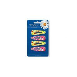 """TOP CHOICE Spinka """"PYK"""" Motyl Glitter różowe i żółte 4szt 6523163. Czerwone ozdoby do włosów TOP CHOICE. Za 4,41 zł."""
