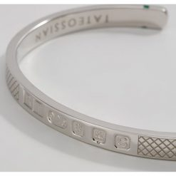 Bransoletki męskie: Tateossian Bransoletka silvercoloured