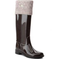 Kalosze GUESS - FLRBE3 RUB11 BROWN. Czarne buty zimowe damskie marki Guess, z materiału. W wyprzedaży za 399,00 zł.