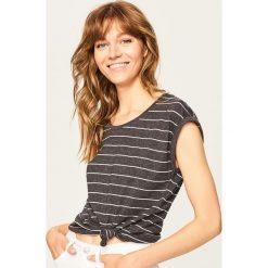 T-shirt z bawełny organicznej - Szary. Szare t-shirty damskie Reserved, l, z bawełny. Za 24,99 zł.