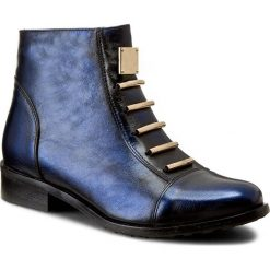 Botki EKSBUT - 66-4088-F63-1G Czarny/Niebieski Lic. Niebieskie botki damskie na obcasie Eksbut, ze skóry. W wyprzedaży za 249,00 zł.