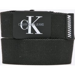 Calvin Klein Jeans - Pasek. Czarne paski męskie Calvin Klein Jeans, w paski, z jeansu. W wyprzedaży za 139,90 zł.