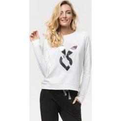 Cardio Bunny - Bluza Poppy. Czarne bluzy sportowe damskie marki Cardio Bunny, s, z nadrukiem, z bawełny, bez kaptura. W wyprzedaży za 99,90 zł.
