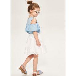 Bawełniana spódnica z haftem - Biały. Białe spódniczki dziewczęce marki FOUGANZA, z bawełny. Za 49,99 zł.