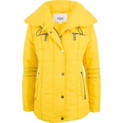 Kurtka pikowana z dużym kołnierzem bonprix żółty kukurydziany. Żółte kurtki damskie pikowane bonprix. Za 179,99 zł.