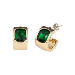 Kolczyki damskie: Pozłacane kolczyki z kryształami Swarovski