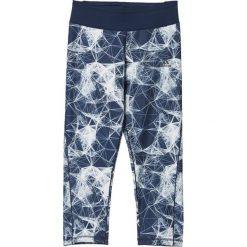Spodnie damskie: Adidas Legginsy 3/4 Drop 1 granatowo-białe r. L (AY6195)