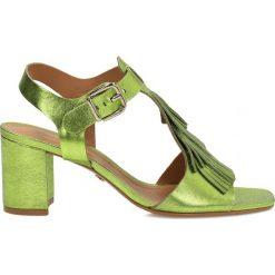 Sandały damskie: Zielone sandały damskie