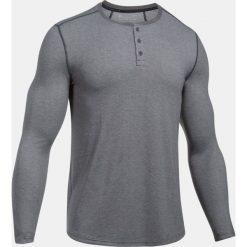 Under Armour Koszulka męska Threadborne Knit Fitted Henley szara r. L (1298403-090). Czarne koszulki sportowe męskie marki Under Armour, m, z kołnierzem typu henley. Za 126,05 zł.