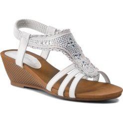 Rzymianki damskie: Sandały VIA RAVIA – WSX506-2 Biały