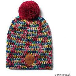 Czapki damskie: czapka dziana KRAFF RED FUN handmade