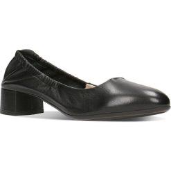 Czółenka MEI. Czarne buty ślubne damskie Gino Rossi, ze skóry. Za 149,90 zł.