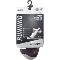 Skarpety Niskie Unisex ASICS - Nimbus St Sock ZK2653  Real White/Dark Grey 0779. Białe skarpetki męskie Asics, z elastanu. Za 68,80 zł.