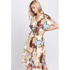Sukienki: Brązowa Sukienka Love Infinity