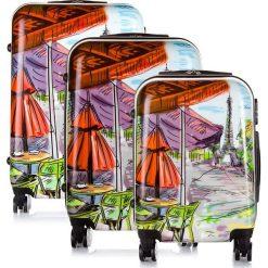 Walizki: Zestaw 2 walizek podróżnych na kółkach z mocnego POLICARBON