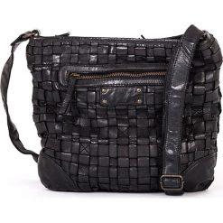 Torebki klasyczne damskie: Skórzana torebka w kolorze czarnym – 28 x 26 x 7 cm