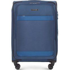 Walizka średnia 56-3S-582-90. Niebieskie walizki Wittchen, średnie. Za 379,00 zł.