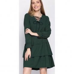 Zielona Sukienka Suave. Zielone sukienki mini Born2be, uniwersalny. Za 79,99 zł.