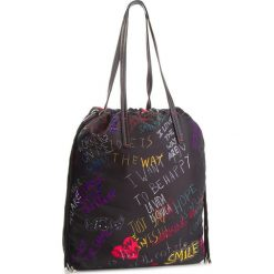 Torebka DESIGUAL - 18WAXF50 2000. Brązowe torebki klasyczne damskie marki Desigual, w paski, z materiału. W wyprzedaży za 189,00 zł.