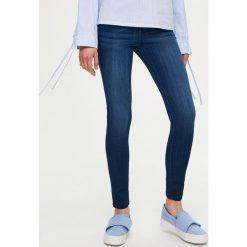 Spodnie z wysokim stanem: Jeansy skinny low waist - Granatowy