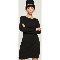 Sukienka basic z napami - Czarny. Czarne sukienki z falbanami marki Sinsay, m. Za 49,99 zł.