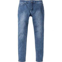 """Dżinsy ze stretchem Skinny Fit Straight z poliestrem z recyclingu bonprix Niebieski """"stone"""" Used. Niebieskie rurki męskie bonprix, z jeansu. Za 54,99 zł."""