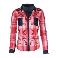 Desigual Koszula Damska Xl Czerwony. Brązowe koszule damskie marki Desigual, w paski, z materiału. Za 350,00 zł.
