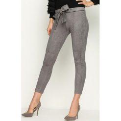Spodnie damskie: Szare Spodnie Fuss