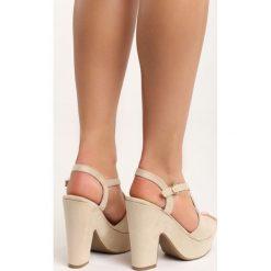 Rzymianki damskie: Beżowe Sandały Next Love