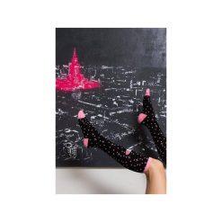 Podkolanówki Stardust Pink. Czarne podkolanówki Mad socks, z bawełny. Za 39,00 zł.