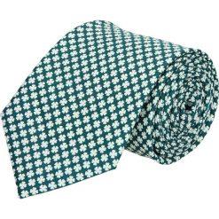 Krawat platinum zielony classic 204. Zielone krawaty męskie Recman. Za 49,00 zł.