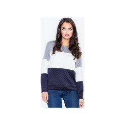 Bluza M426 Granat. Niebieskie bluzy rozpinane damskie FIGL, m, z długim rękawem, długie. Za 99,00 zł.