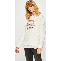 Pepe Jeans - Bluza Vickies. Szare bluzy damskie Pepe Jeans, l, z aplikacjami, z bawełny, bez kaptura. Za 339,90 zł.