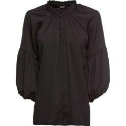 Bluzki damskie: Bluzka z rękawami balonowymi bonprix czarny
