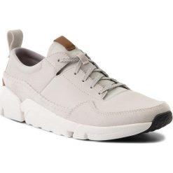 Derby męskie: Półbuty CLARKS - Triactive Run 261322777 White Leather